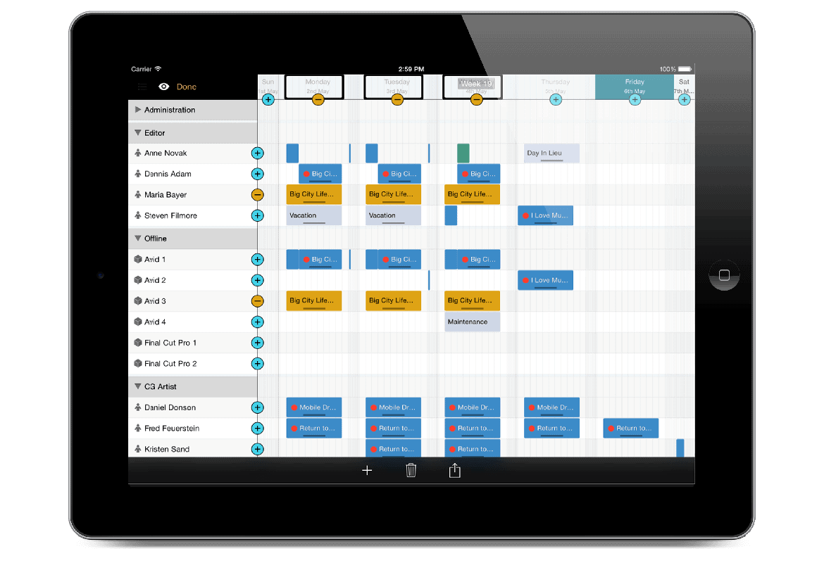 farmerswife project management scheduling software clear user friendly interface ipad