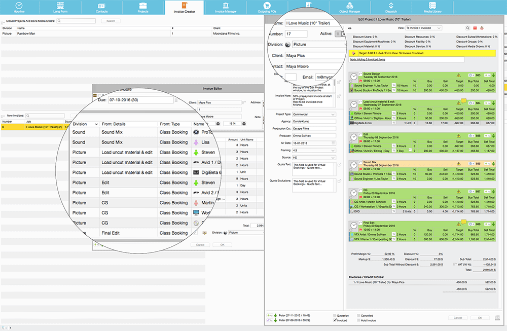 farmerswife project management scheduling tools divisions pool resources extra options